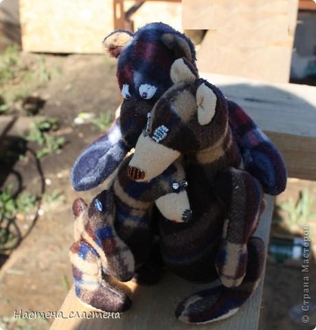 Мама сшила мне маленького медвежонка и я захотела, что бы у нее был свой мишка! Первый раз шила игрушку!!! Очень понравилось!!!  - Привет!!! Меня зовут Маша! Я медведица по совместному пошиву со Светланой КотМяу http://stranamasterov.ru/node/364578  Меня сшили вчера!!! И я успела родиться до окончания игры!!!  фото 6