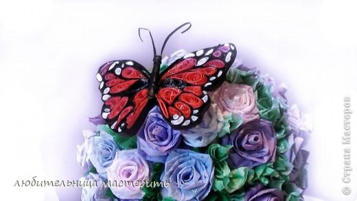Это мой самый 1-ый опыт в Квиллинге:) Всегда была равнодушна к квиллингу,не тут то было увидела бабочек:)и решила что будет моё новое увлечение:) Вроде получилось) фото 1