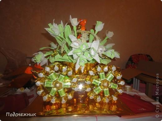Карета с подснежниками, подаренная в преддверии весны этого года фото 1