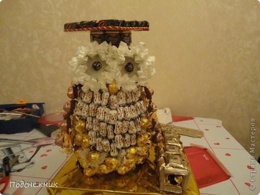 Такая сова была изготовлена в подарок одному из профессоров известного в Уфе вуза по случаю его Юбилея! фото 1