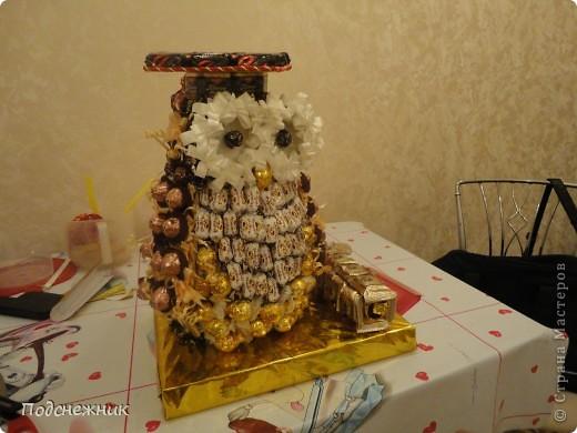 Такая сова была изготовлена в подарок одному из профессоров известного в Уфе вуза по случаю его Юбилея! фото 2