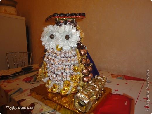 Такая сова была изготовлена в подарок одному из профессоров известного в Уфе вуза по случаю его Юбилея! фото 3