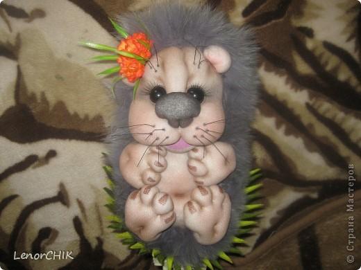 Ура!!! Наконец-то я сшила себе ёжика-повторюшку по мотивам кукол Елены Лаврентьевой.Огромное спасибо ей за идею!!! фото 2