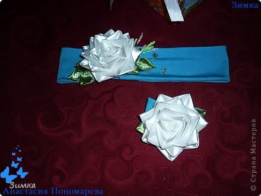 НУ вот и первый заказ, на комплект с белой розой! Клиентка заказала комплект для своей маленькой доченьки, девочке четыре годика. Очень, очень волнуюсь!!!!! Понравится - ли клиентке моя работа... фото 7