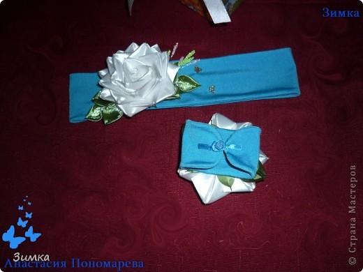 НУ вот и первый заказ, на комплект с белой розой! Клиентка заказала комплект для своей маленькой доченьки, девочке четыре годика. Очень, очень волнуюсь!!!!! Понравится - ли клиентке моя работа... фото 6