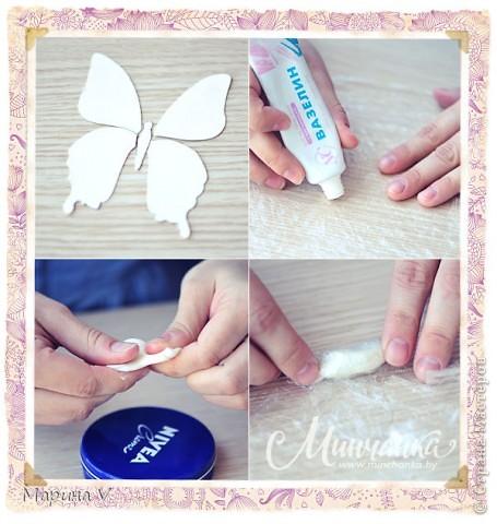 Подробный мастер-класс о том, как я делала свою голубую бабочку, можно посмотреть здесь http://www.minchanka.by/ukrasheniya/marina_volkova_butterfly.html  фото 2