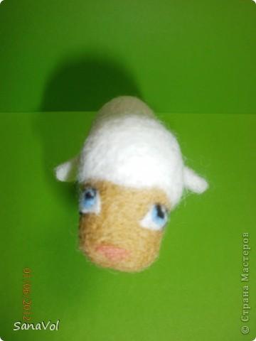 Из шерсти и любви родилась эта маленькая овечка. Вопросительно и доверчиво она смотрит на этот мир. фото 9