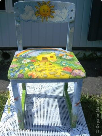 Обнавлённый стульчик фото 1