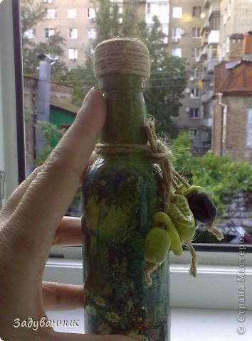 Бутылочка для масла. Декупаж. фото 8