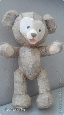 """Привет Жители Страны Мастеров.  Это медведь по имени """" Джеф"""". Он полностью сделан из бумаги. фото 2"""