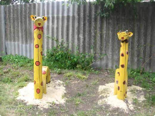 а у нас во дворе появились вот такие жирафики фото 1