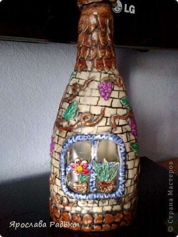 Вот такая бутылочка получилась фото 2