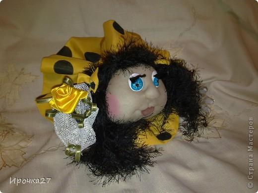 Эту куколку еще не успела закончить, а мои дети ей уже дали имя - Ирэн и только Ирэн.  Сказали, что очень на меня похожа.   фото 3
