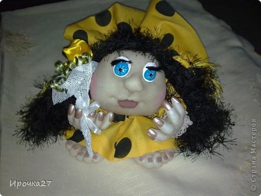 Эту куколку еще не успела закончить, а мои дети ей уже дали имя - Ирэн и только Ирэн.  Сказали, что очень на меня похожа.   фото 2