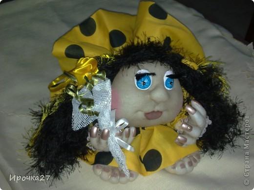 Эту куколку еще не успела закончить, а мои дети ей уже дали имя - Ирэн и только Ирэн.  Сказали, что очень на меня похожа.   фото 1