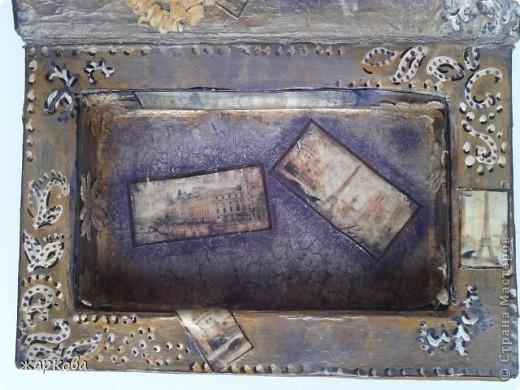 обложка книги- де купаж-распечатка на фольге ,состаривание,акрил.краски. фото 2