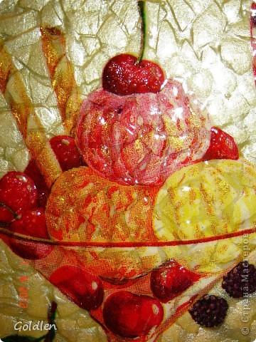 Вкусняшка на яичном кракле, салфетка, 3-Д гель, глиттер золотой, перламутровые акриловые краски фото 3