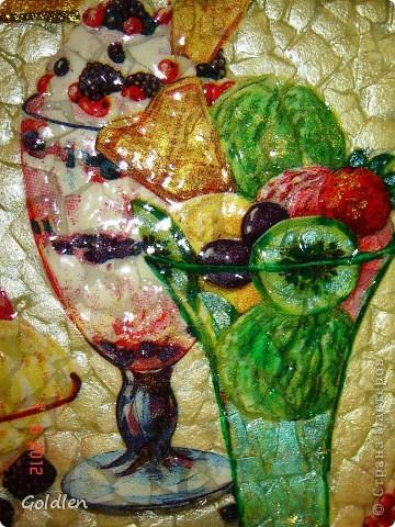 Вкусняшка на яичном кракле, салфетка, 3-Д гель, глиттер золотой, перламутровые акриловые краски фото 2