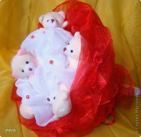Букет из мягких игрушек фото 2