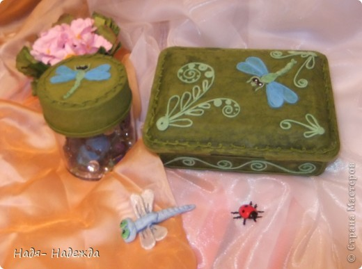 Добрый день или ночь, дорогие мастерицы!!!!Хочу сегодня показать вам первую попытку освоить Пейп-Арт в цвете , училась у Тани Сорокиной,   http://stranamasterov.ru/node/308701 .Итак...это коробочки для мелочей.... фото 1