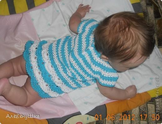Платье русалка... морячка... морская пена или волна...) фото 13