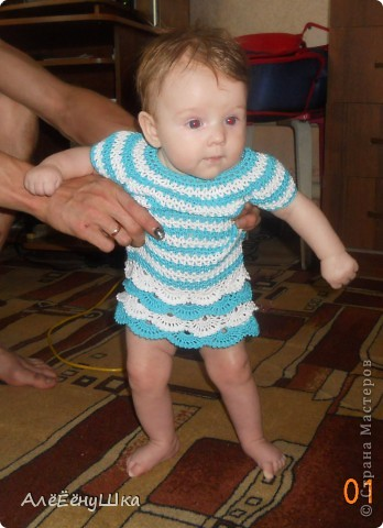 Платье русалка... морячка... морская пена или волна...) фото 1