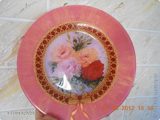такую тарелочку я подсмотрела у одной из мастериц из сообщества точечной росписи. фото 2
