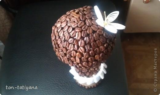 Моё первое кофейное дерево. Сделано в подарок на день рождения одной замечательной женщине!Знаете,бывают в  жизни такие люди, за встречу с которыми хочется благодарить Бога!Вот и она - одна из них! Надеюсь, ей понравится! фото 2