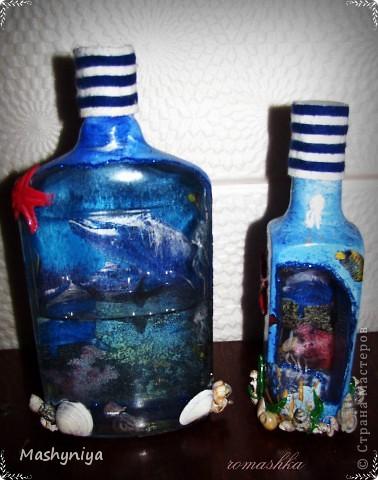 декупаж на бутылках 2 фото 2