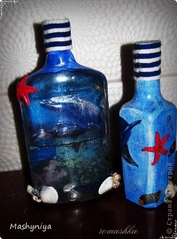 декупаж на бутылках 2 фото 3