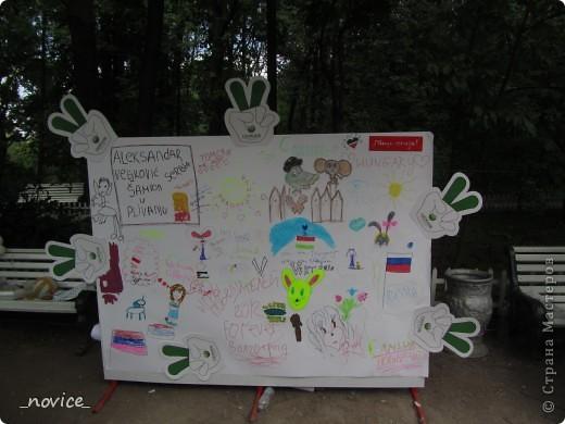 Сегодня в Нескучном саду прошло завершение Игр победителей 2012 . Как и в прошлом году,  мы с детьми пробовали создавать забавные поделки из гофрокартона фото 13