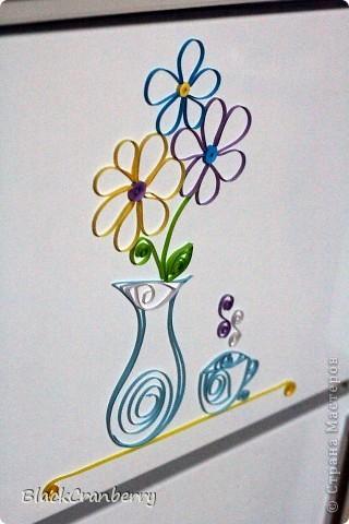 А вот так я бумажно украсила холодильник. фото 1