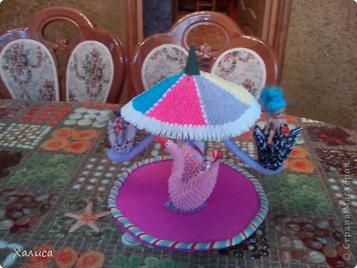двойной лебедь,детская карусель,лампа-ваза фото 3