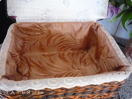Сделала новый  сундучок для хлеба , крышка теперь прикреплена к коробушке. фото 4