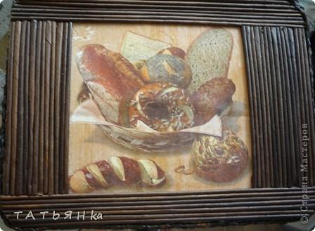Сделала новый  сундучок для хлеба , крышка теперь прикреплена к коробушке. фото 5