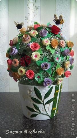 Вот такой куст состаящий из роз и маргариток мы подарили нашей воспитательнице на день рождения!!!! фото 4