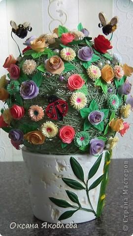 Вот такой куст состаящий из роз и маргариток мы подарили нашей воспитательнице на день рождения!!!! фото 5