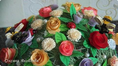 Вот такой куст состаящий из роз и маргариток мы подарили нашей воспитательнице на день рождения!!!! фото 7