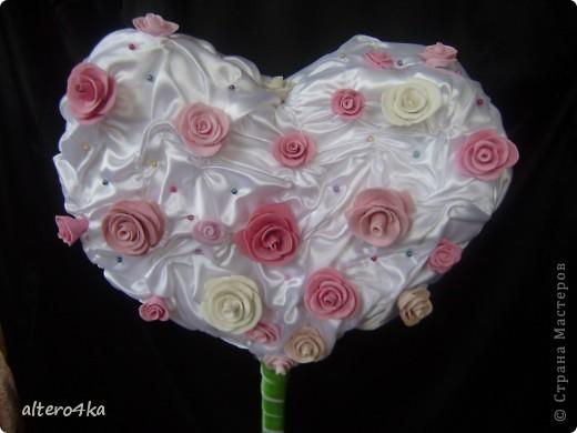 Cердечный топиарий, был сделан для украшения на свадьбу.) фото 1