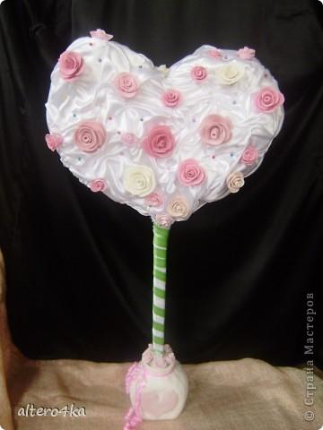 Cердечный топиарий, был сделан для украшения на свадьбу.) фото 2