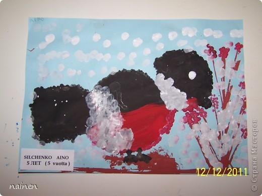 Работаю в очень интересном месте - в детском центре развития SuperKids в городе Espoo в Финляндии :) Помимо своей основной логопедической работы, веду уроки рисования :) Подводный мир глазами детей. Использовали полиэтиленовые пакеты для создания фона. Рисунок мой дочки, ей 5 лет. фото 4