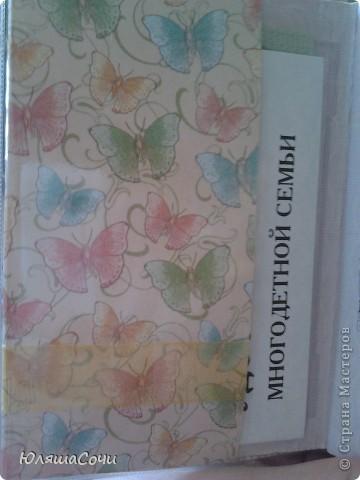 моя первая обложечка на паспорт.  бумага очень красивая, старалась не испортить её красоту украшениями. буквы специально сделала черными, все же документ. а так старалась, чтобы вышщло нежно и воздушно, пархало как бабочки) фото 4