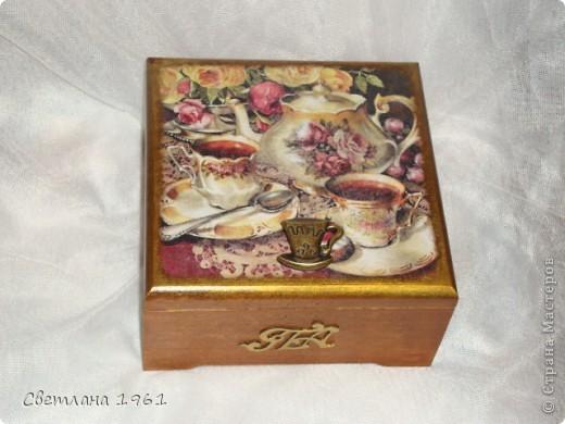 """Шкатулка для чайных пакетиков """"Чай вдвоем"""". фото 2"""