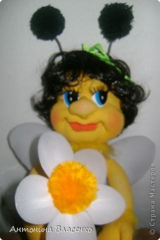Давно хотела сделать пчелку, как  получилась, судить вам. фото 1