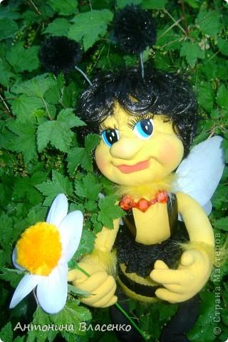 Давно хотела сделать пчелку, как  получилась, судить вам. фото 3