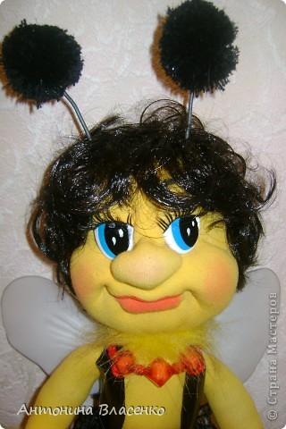 Давно хотела сделать пчелку, как  получилась, судить вам. фото 8
