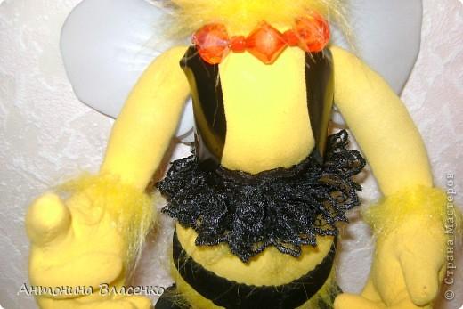 Давно хотела сделать пчелку, как  получилась, судить вам. фото 7