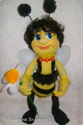 Давно хотела сделать пчелку, как  получилась, судить вам. фото 4