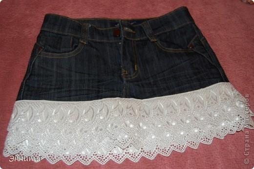 Мастер-класс Шитьё новая юбочка из старых джинсов Ткань фото 1.