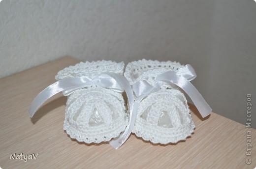 Пинетки-сандалики крючком... фото 1
